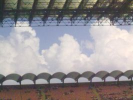 clouds at the stadium by Superxme