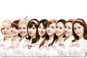 SNSD png [render] by pikudesign
