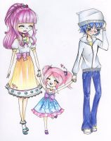 Lila, Candy and Novalt by Chancetodraw
