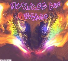 My Nikes are burning by Sonike