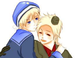 Hetalia: Denmark x Norway by blindingmyheart