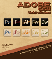 Adobe CS4 B and W Icons by ThorValhalla