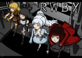Rwby walking in a street by Fongfumaster