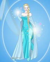 Queen Elsa as a Superhero by LadyAquanine73551