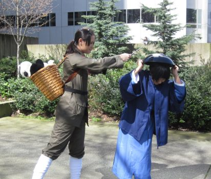 China and Japan Cosplay - Attacking Japan by weowolf