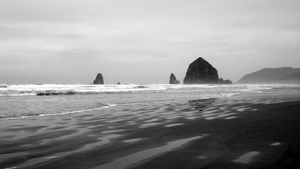 cannon beach bw I by adderx99