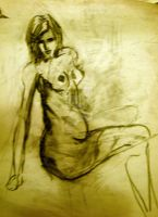 Female nude study 5 by XavierDiemert