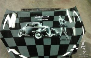 CAR HOOD AIRBRUSHED by madsparkairbrush