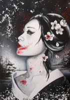 Dark Geisha by SpleenArt