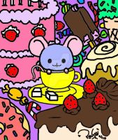 Tea Cup Mouse n' Sweets by Pandarat