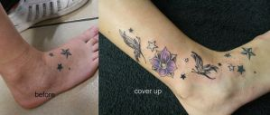 Star Cover up New School TaT by 2Face-Tattoo