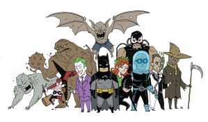 'Little' Bat Baddies by darrenrawlings