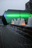Green Glowing Fountain by Amb08