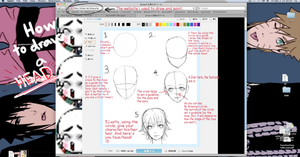How to draw a head or face tutorial 1 by Ragginess