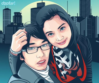 Couple in Turquoise Vector part II by ndop