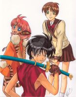 Vision of Escaflowne Trio by Kazekuro