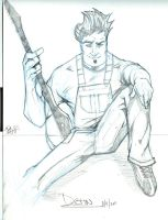 Character Sketch - Dustin by PhillipQHudson