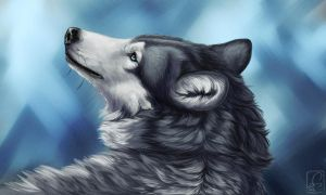Portrait of Kiba by Khalliys