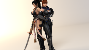 Momiji and Kasumi Semi-Finals by CeCeFever