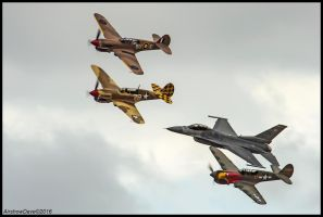 Heritage Flight Planes of Fame 2016 by AirshowDave
