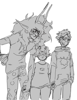 karkat and his giant disgusting boyfriends by colorwonders