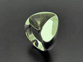 Rutile Quartz Silver Ring by orfeujoias