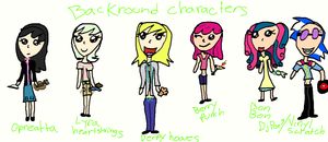 my little humans: backround characters by kitkat567