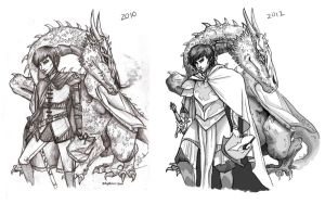 Draw it Again: Eragon and Saphira by Pilgrimwanders
