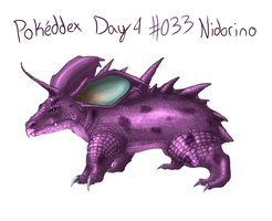 Day 4 - #033 Nidorino by CheezieSpaz