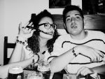 ELISA AND ME AT THE PIZZA PLACE 2 by RoudInWonderland
