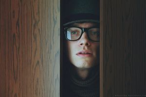 Strange man in the wardrobe by Basistka