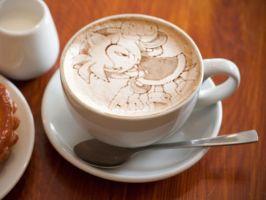 Amy latte art by JuliatheHedgehog336