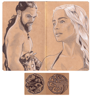 Khal and Khaleesi by rurouni-jedi
