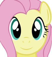 Fluttershy face (Vector) by MaybyAGhost