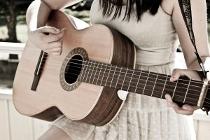 Playing on a guitar (1) by Tosstoss