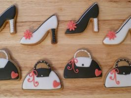Gingerbread shoes and handbags by Rebeckington