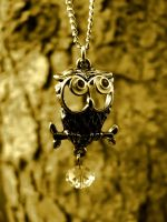 Owl Necklace by DiveEleanorDive