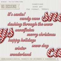 Candy Cane Word Art by HGGraphicDesigns