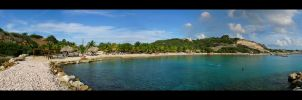Blue Bay Panorama by Ronskie