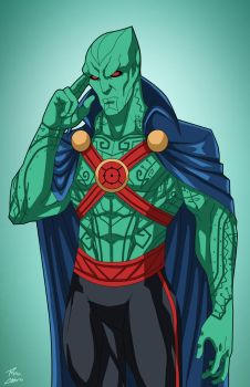 J'onn J'onzz (Earth-27) commission by phil-cho