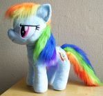 Large Rainbow Dash Plushie with Furry Mane by Pinkamoone