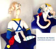 Earthworm Jim Plushie by MissNeens