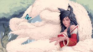 Ahri - League Of Legends by JLyKnow