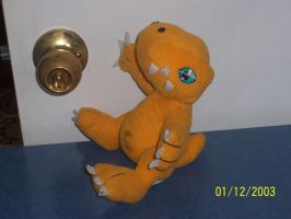 Agumon Plushie 3 by JameyEmerald