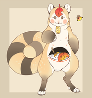 Tanuki themed Meowchow adopt [CLOSED] by Kemikel