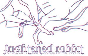frightened rabbit gig poster by uncertain-certainty