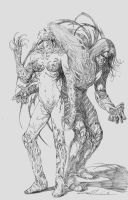 The Darkness and Witchblade pencil by skeel76
