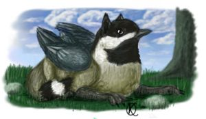 Chickadee Gryphon by Katolin