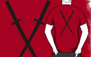Deadpool Katanas T-Shirt by drg