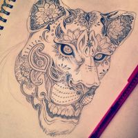 Lioness Sugarskull by Adrenalynn-X
